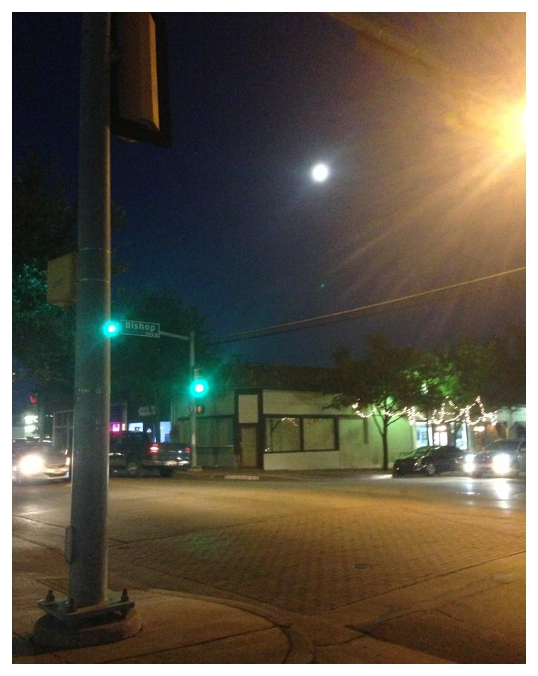 Moon in Bishop Arts District