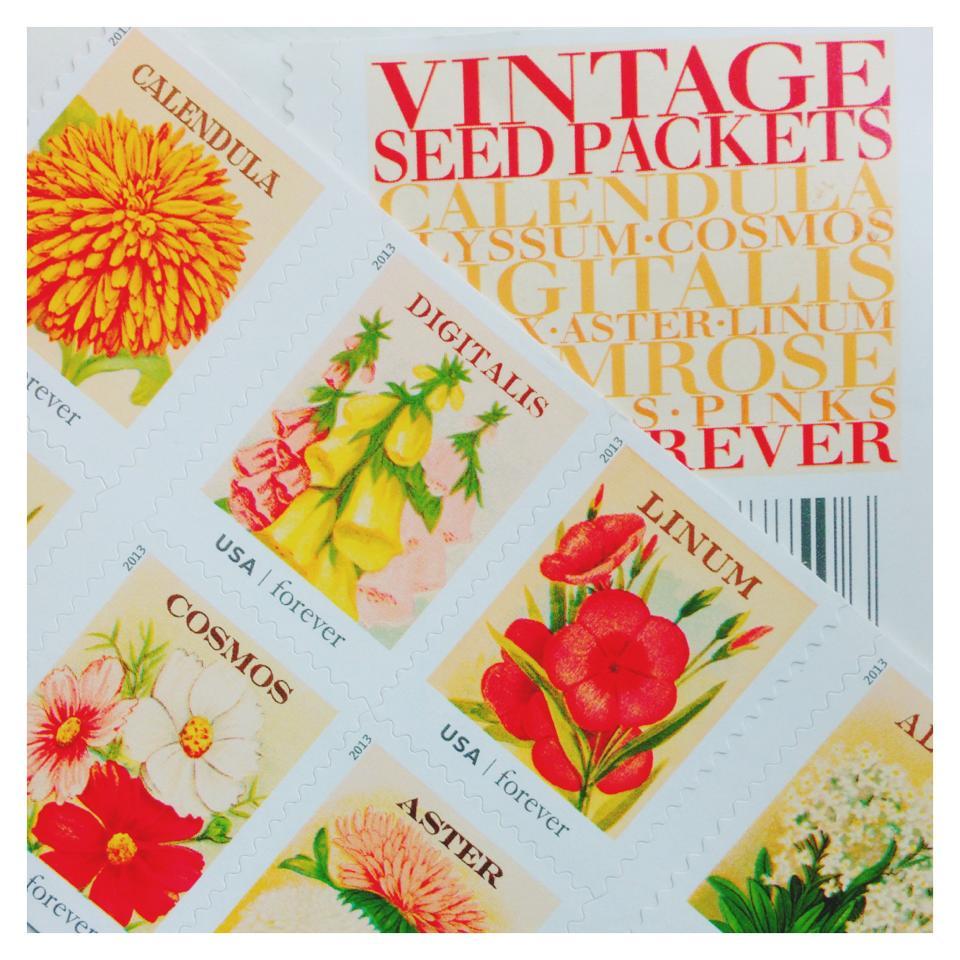 Vintage Seed Pack Stamps